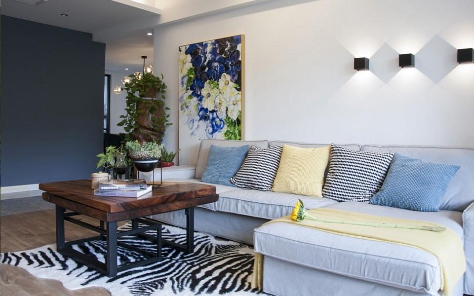 现代北欧风格140平三居室装修效果图