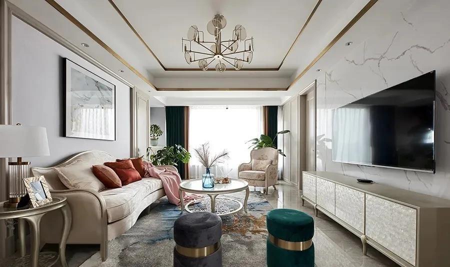 2021现代欧式150平米效果图 2021现代欧式套房设计图片