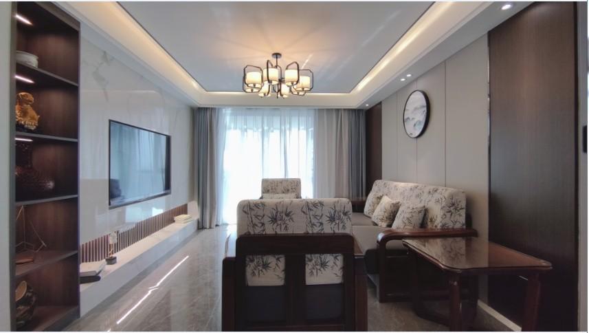 2021中式客厅装修设计 2021中式电视背景墙装修设计图片