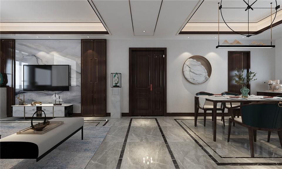 2021新古典客厅装修设计 2021新古典走廊装修效果图大全