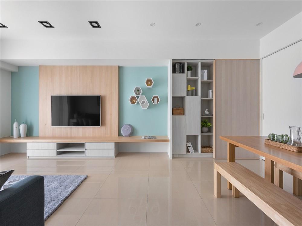 2021北欧客厅装修设计 2021北欧电视背景墙图片