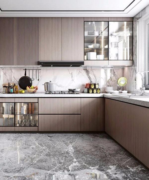 2021后现代厨房装修图 2021后现代橱柜装修效果图片
