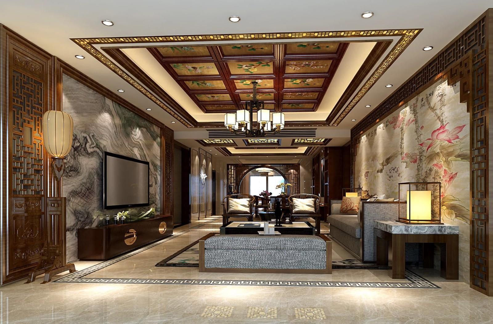 2021中式客厅装修设计 2021中式细节装饰设计