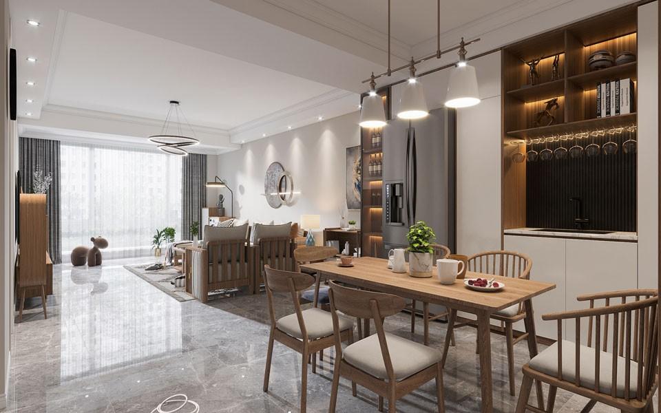 2021混搭餐厅效果图 2021混搭地板装修效果图片