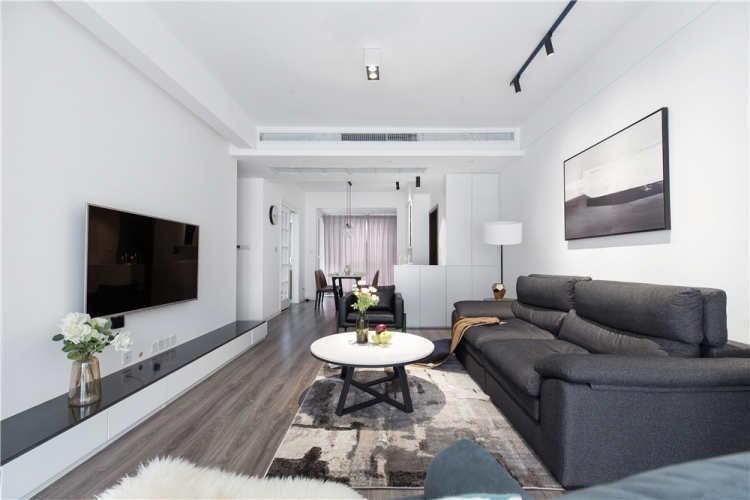 2021現代簡約客廳裝修設計 2021現代簡約吊頂圖片