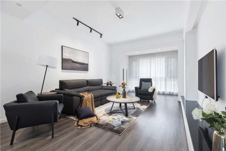 2021現代簡約客廳裝修設計 2021現代簡約窗簾裝修圖