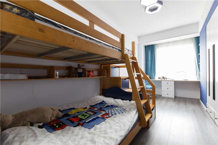 2021現代簡約兒童房裝飾設計 2021現代簡約床裝修效果圖片