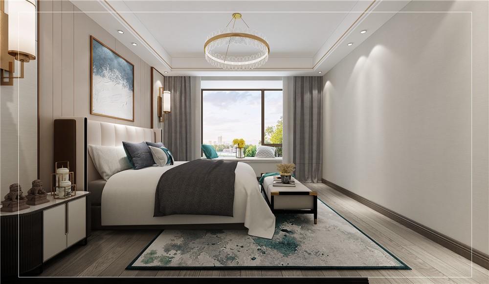 2021新中式卧室装修设计图片 2021新中式吊顶效果图