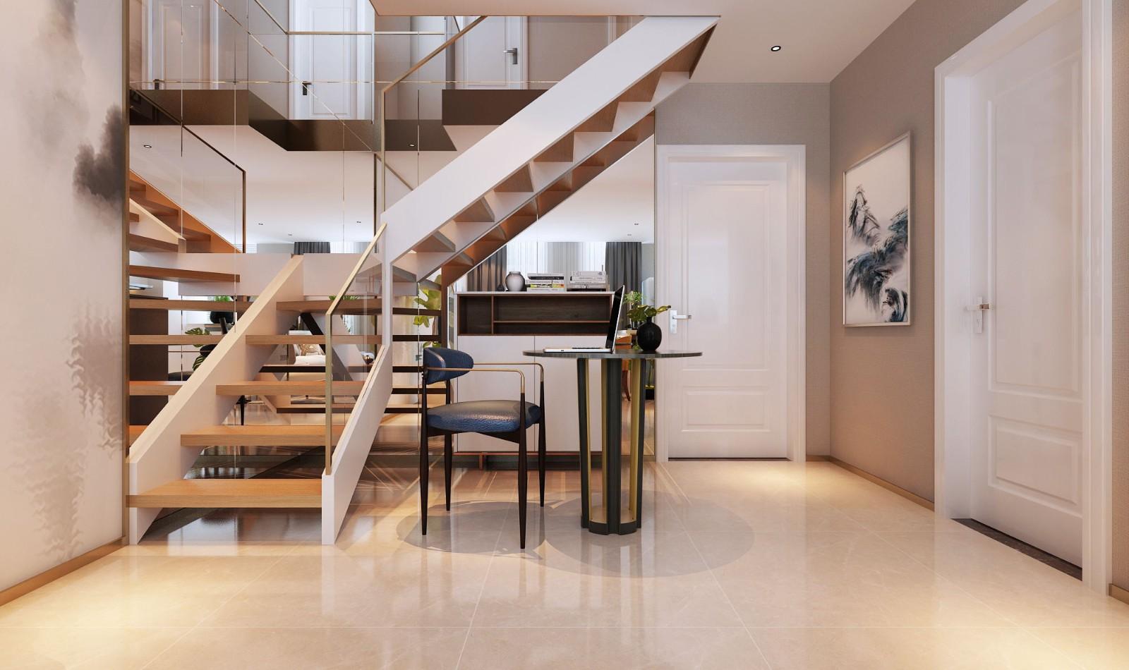 2021现代玄关图片 2021现代楼梯装修效果图片