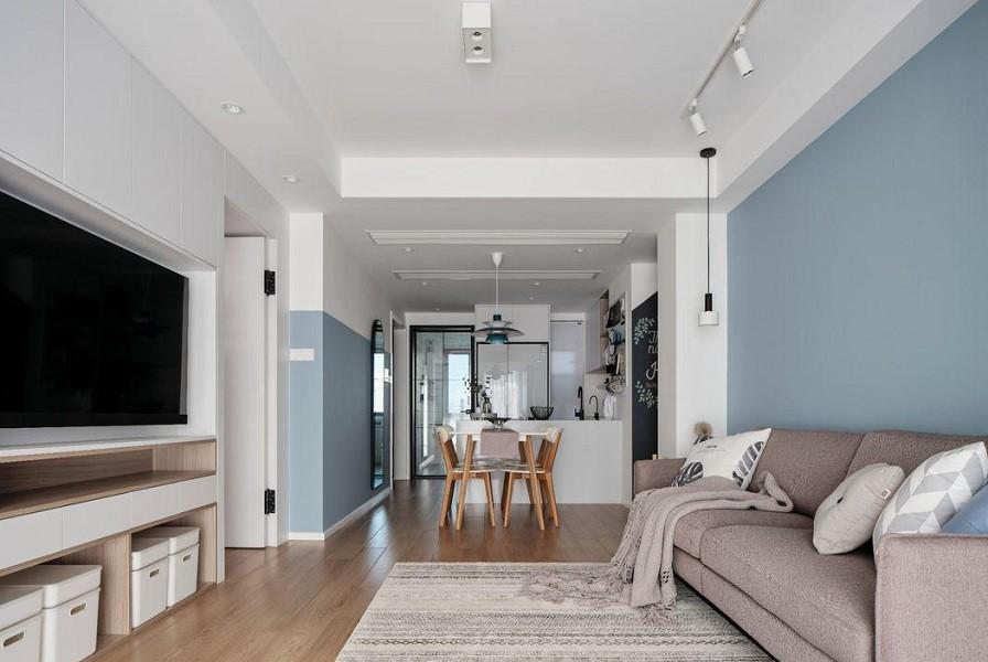 2021现代简约90平米装饰设计 2021现代简约三居室装修设计图片