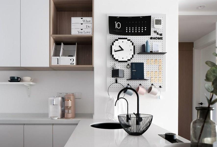 2021现代简约厨房装修图 2021现代简约吧台装修设计图片