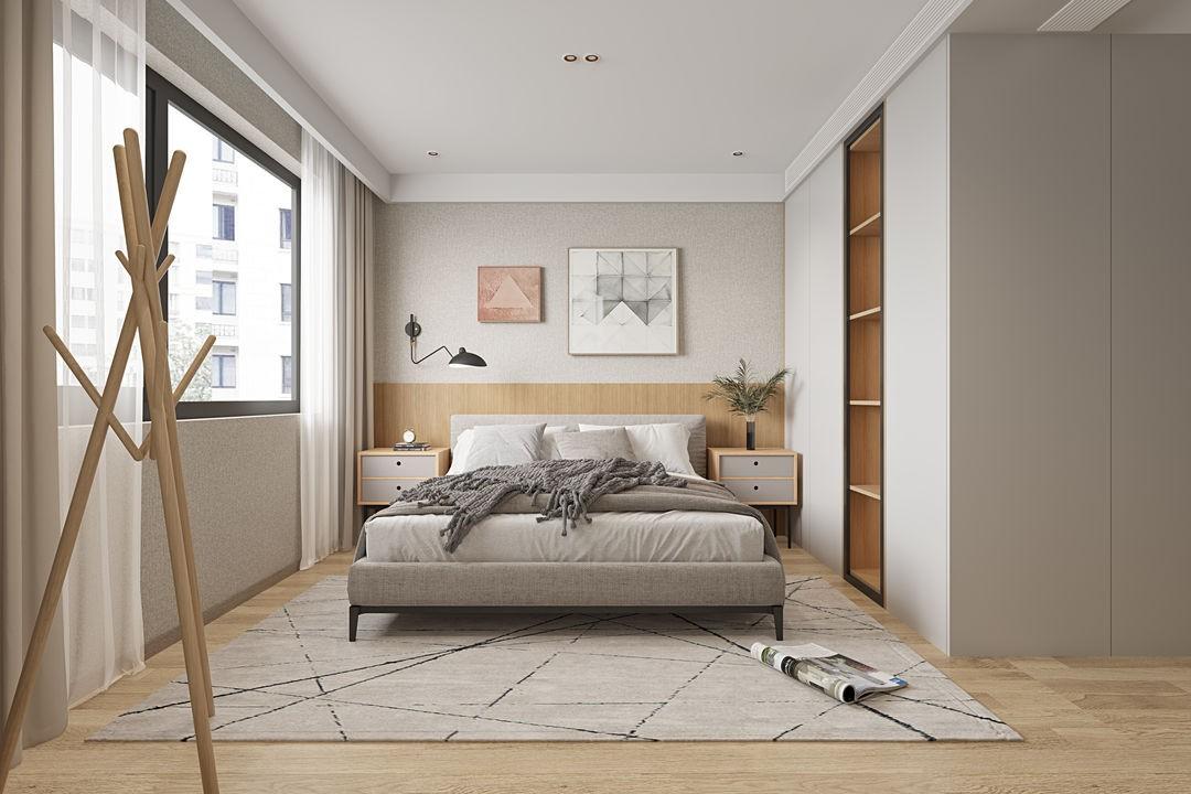 2021日式卧室装修设计图片 2021日式床装修效果图片