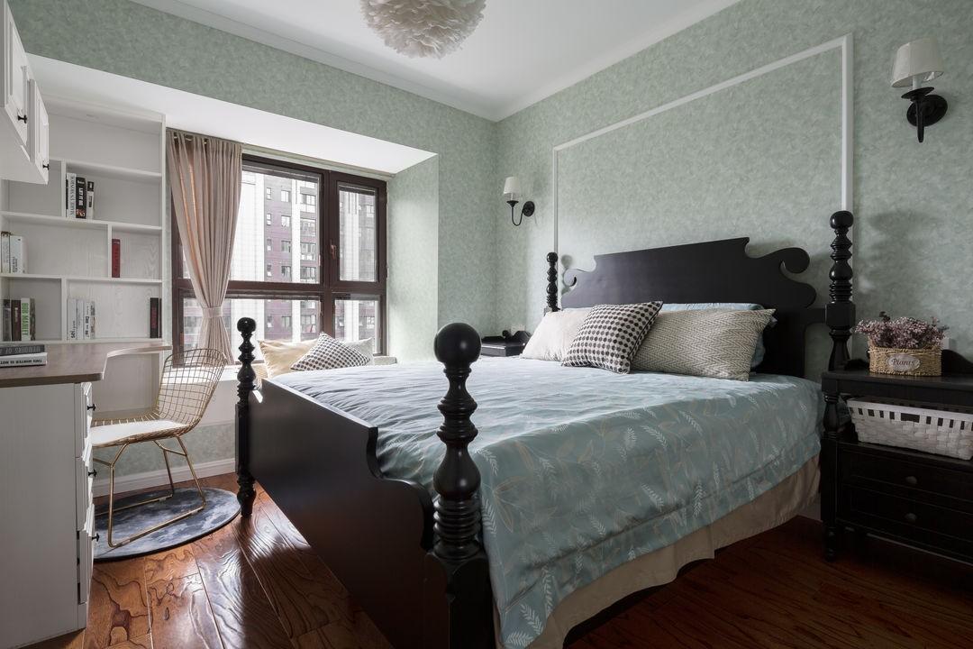 2021美式卧室装修设计图片 2021美式床头柜装修设计图片