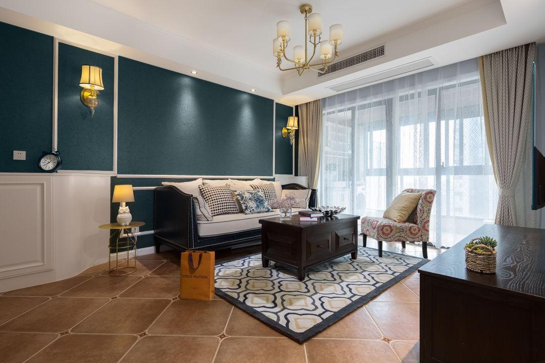 2021美式客厅装修设计 2021美式灯具设计图片