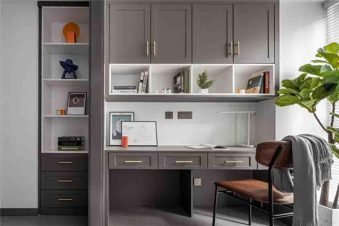 2021北欧书房装修设计 2021北欧书桌图片