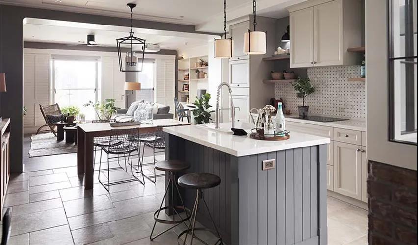2021美式厨房装修图 2021美式餐桌装修效果图大全