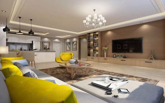 红谷新城87平两居室北欧装修效果图