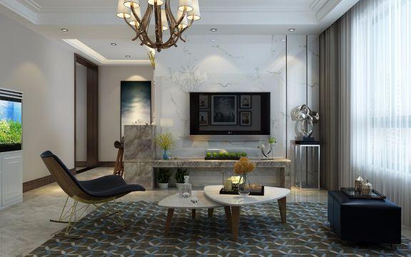 2018现代120平米装修效果图片 2018现代三居室装修设计图片