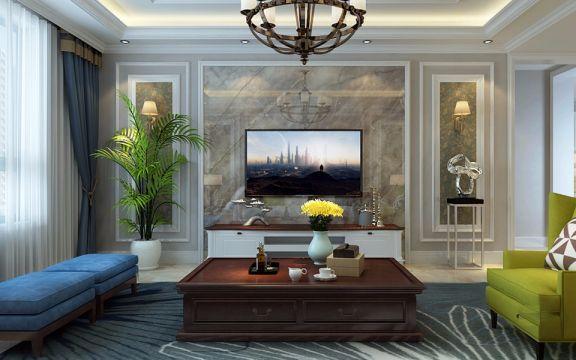 2018美式240平米装修图片 2018美式三居室装修设计图片