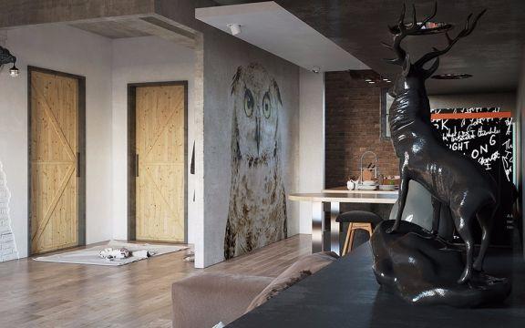 2018现代简约110平米装修图片 2018现代简约三居室装修设计图片