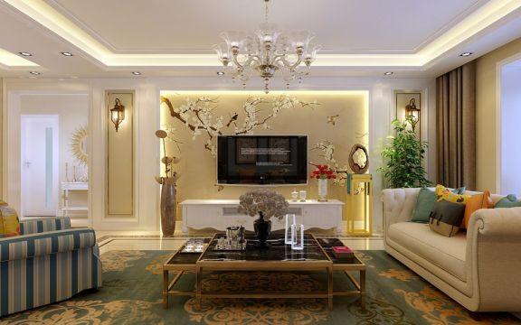 小米国际160平米欧式风格三居室装修效果图