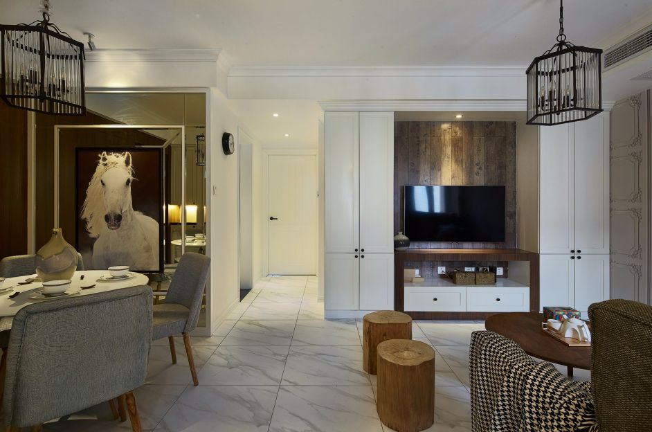 100平米现代简约三房两厅装修效果图