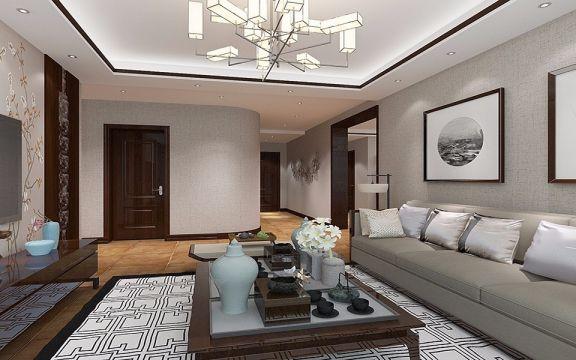 首座时代240平米新中式风格楼房装修效果图