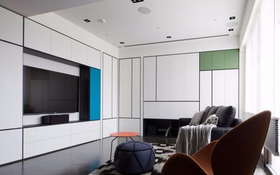 御城130平美式风格三居室装修效果图