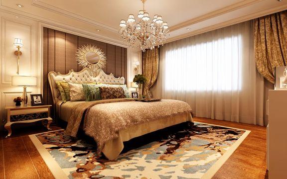 水榭和园简欧风格三居室110平米家装效果图