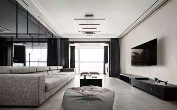 华菁水苑120平现代简约风格二居室装修效果图