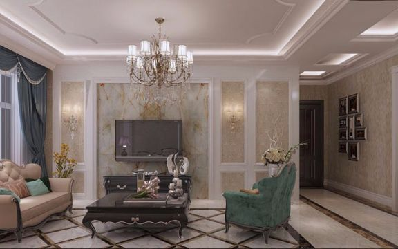 亲水湾欧式U乐国际三居室100平米家装优乐娱乐官网欢迎您