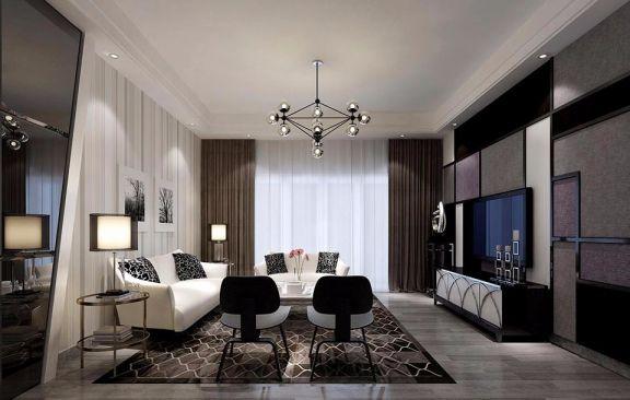 半岛融园现代简约风格三居室100平米装修效果图