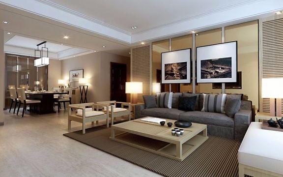 盛世华庭103平三居室现代简约装修效果图