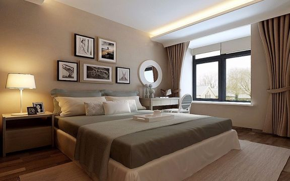 卧室照片墙现代简约风格装修效果图