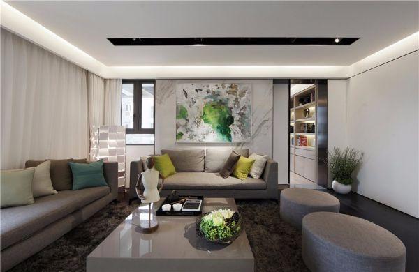 星河国际118平现代简约风格三居室装修效果图