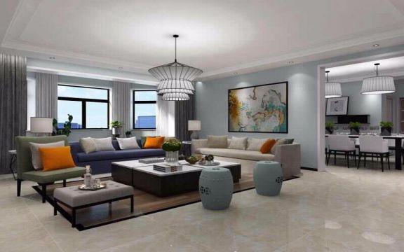 万和府邸150平米四居室现代风格装修效果图
