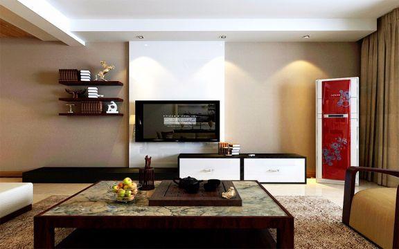 2019新中式120平米装修效果图片 2019新中式三居室装修设计图片