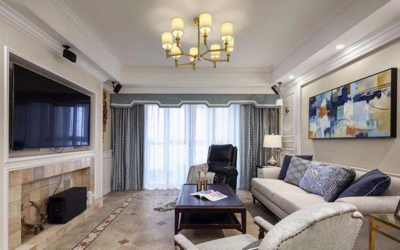 丽景苑103平欧式两居室装修效果图