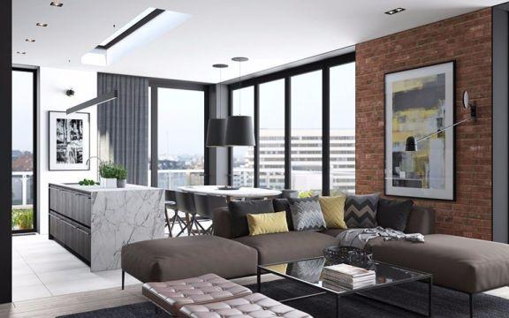 海泰国际公寓49平米一居室欧式风格装修效果图