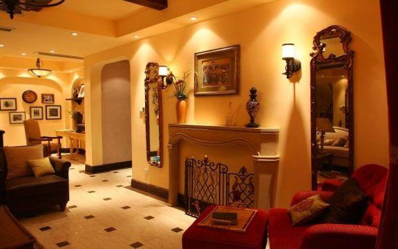 客厅黄色细节美式风格装饰图片