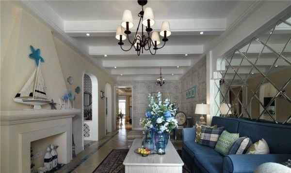 客厅彩色照片墙地中海风格装饰设计图片