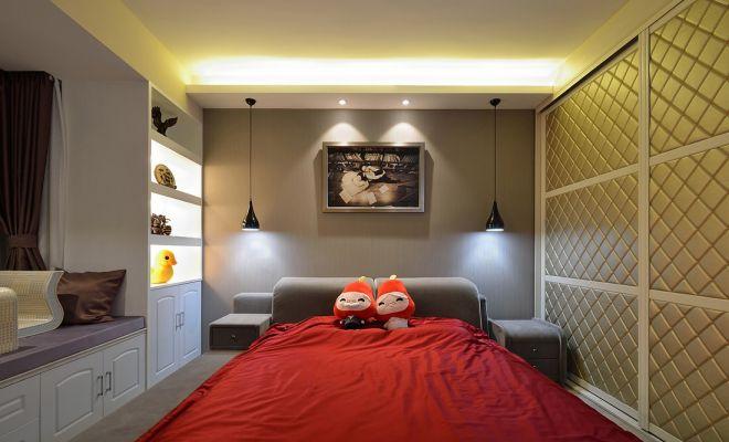 卧室白色衣柜现代简约风格装修设计图片