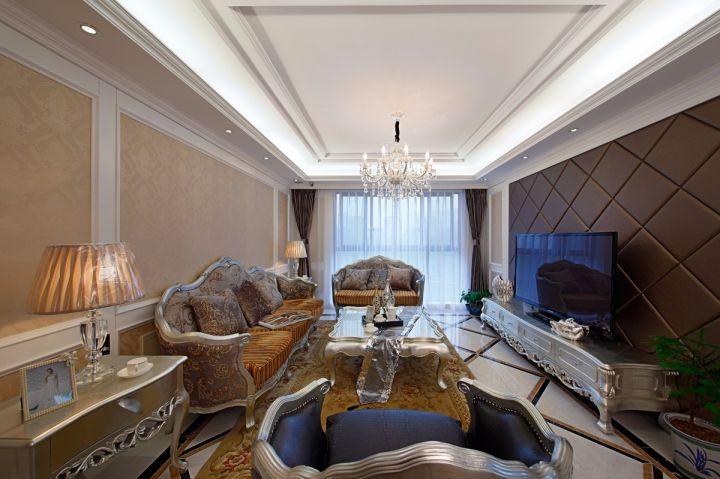 华润国际新区120平古典欧式风格楼房装修效果图