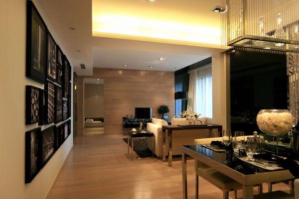 中冶重庆现代风格130平米三居室装修效果图