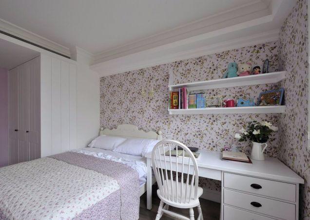卧室粉色床田园风格装饰设计图片