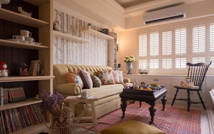 客厅白色照片墙简约风格装修图片