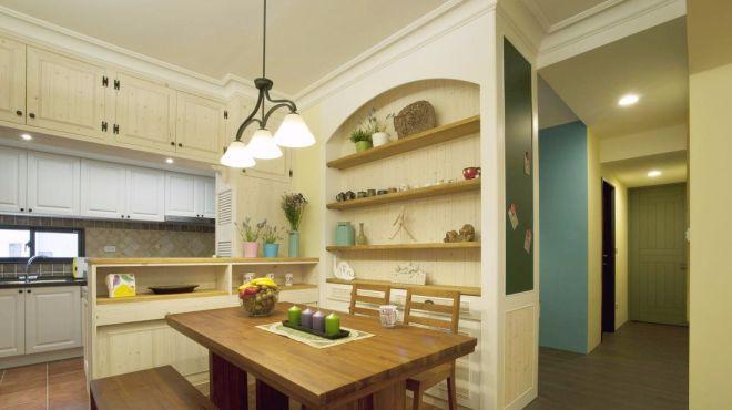 厨房白色厨房岛台乡村风格装饰效果图