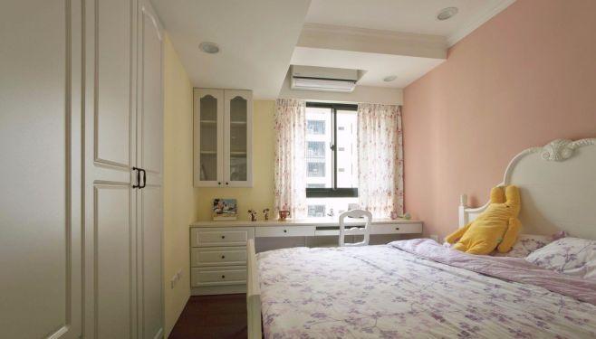 卧室粉色床乡村风格装饰图片