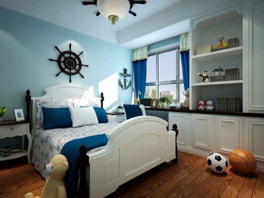 儿童房米色背景墙中式风格装修效果图