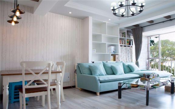 宁夏路18号住宅小区73平现代两室两厅一卫装修效果图